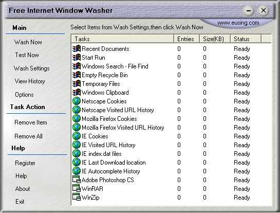 Free Internet Window Washer full screenshot