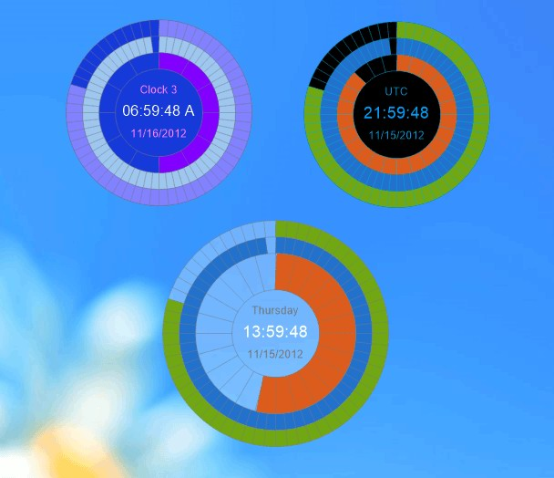 Click to view Eusing Clock 2.0 screenshot